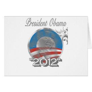 logotipo de obama del voto - imagen - 2012 tarjeta de felicitación