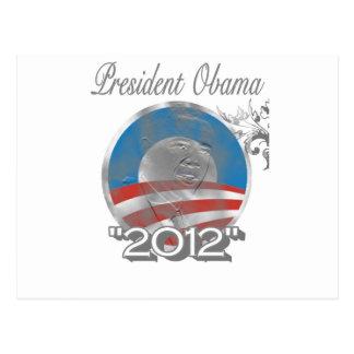 logotipo de obama del voto - imagen - 2012 tarjeta postal