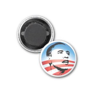 Logotipo de Obama - llano Imán Redondo 3 Cm