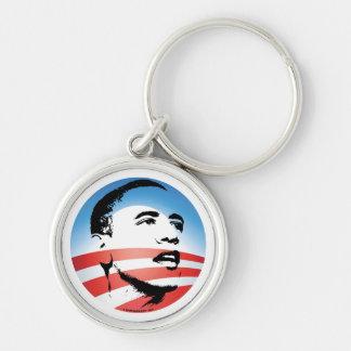 Logotipo de Obama - llano Llavero Redondo Plateado