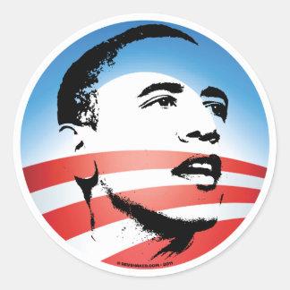 Logotipo de Obama - llano Etiquetas Redondas