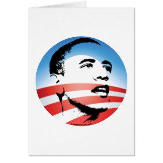 Logotipo de Obama - llano Tarjeta De Felicitación