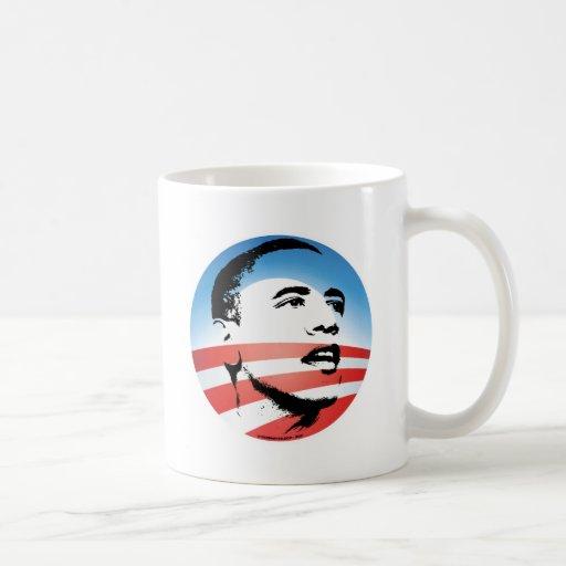 Logotipo de Obama - llano Taza