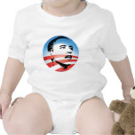 Logotipo de Obama - llano Trajes De Bebé