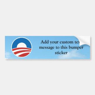 Logotipo de Obama-o con el azul Pegatina De Parachoque