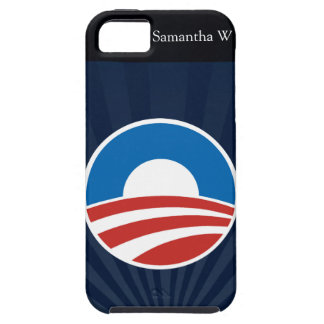 Logotipo de Obama-o con el azul iPhone 5 Case-Mate Funda