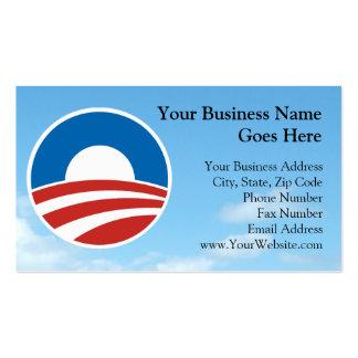 Logotipo de Obama-o con el azul Tarjetas De Visita
