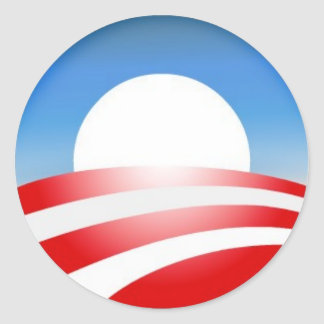 Logotipo de Obama Etiquetas Redondas