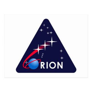 Logotipo de Orión del proyecto de la NASA Postales