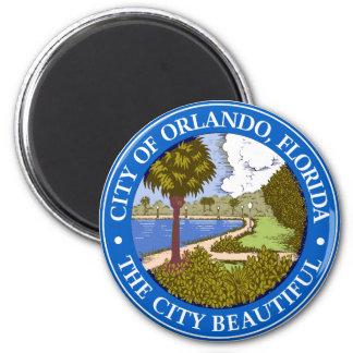 Logotipo de Orlando, la Florida Imán Redondo 5 Cm