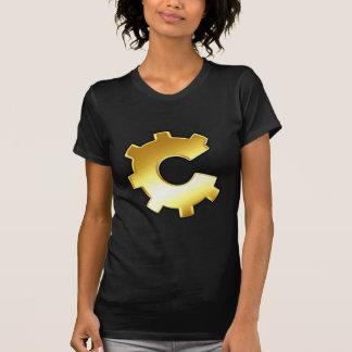 Logotipo de oro del diente tshirts