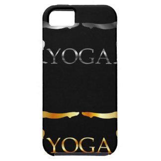 Logotipo de oro y de plata de la yoga o de la iPhone 5 fundas