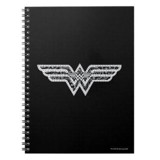 Logotipo de Paisley de la Mujer Maravilla Spiral Notebook