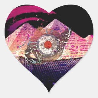 Logotipo de PandaBearNapalm Pegatina En Forma De Corazón