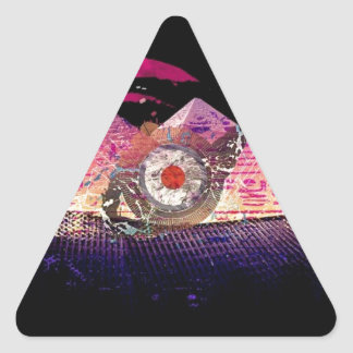 Logotipo de PandaBearNapalm Pegatina Triangular