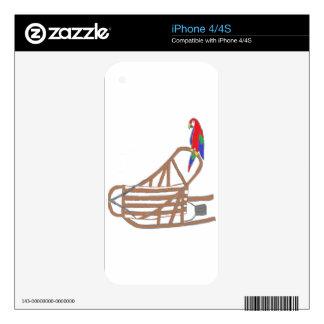 Logotipo de ParrotSleds iPhone 4 Calcomanías