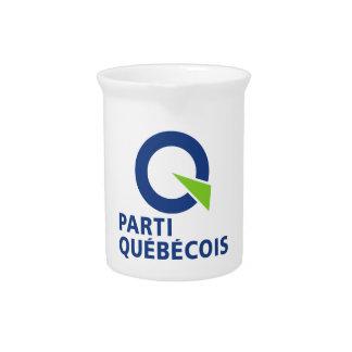 Logotipo de Parti PQ Québécois Jarras De Beber