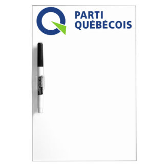 Logotipo de Parti PQ Québécois Pizarras Blancas