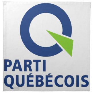 Logotipo de Parti (PQ) Québécois Servilletas De Papel