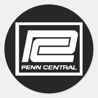 Logotipo de Penn Central Railway Company Pegatina Redonda