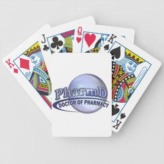 LOGOTIPO de PharmD - el DOCTOR OF PHARMACY Baraja Cartas De Poker