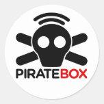 Logotipo de PirateBox Pegatina Redonda