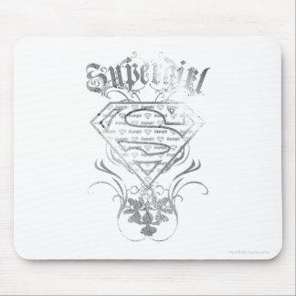 Logotipo de plata de lujo de Supergirl Mousepad