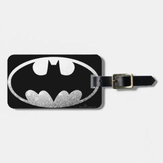 Logotipo de plata granoso de Batman Etiquetas Bolsas