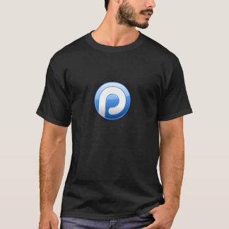 Logotipo de Plaxo en la camiseta negra