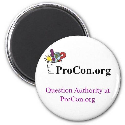Logotipo de ProCon del imán y nuevo texto