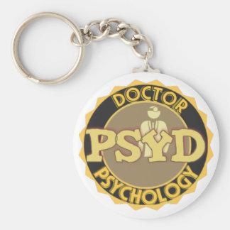 LOGOTIPO de PsyD - el DOCTOR OF PSYCHOLOGY Llavero Redondo Tipo Pin
