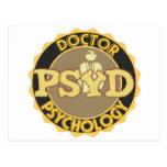 LOGOTIPO de PsyD - el DOCTOR OF PSYCHOLOGY Postal