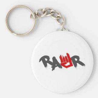 Logotipo de Rawr - Emo, gótico, alternativa, roca, Llavero