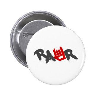 Logotipo de Rawr - Emo, gótico, alternativa, roca, Pin Redondo 5 Cm