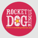 Logotipo de RDR (blanco/vara de oro) Pegatina Redonda
