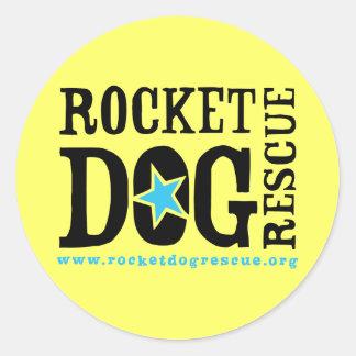 Logotipo de RDR (negro/azul) Etiqueta Redonda