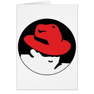 Logotipo de Red Hat Linux Tarjeta De Felicitación
