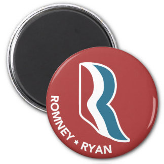 Logotipo de Romney Ryan R redondo (rojo) Imán Redondo 5 Cm