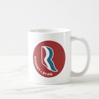 Logotipo de Romney Ryan R redondo (rojo) Taza Clásica