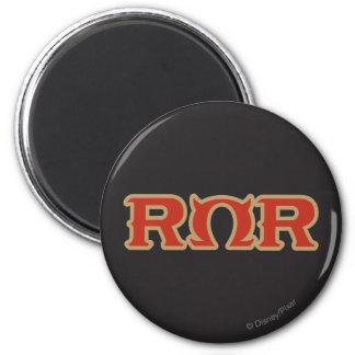 Logotipo de ROR Imán Redondo 5 Cm