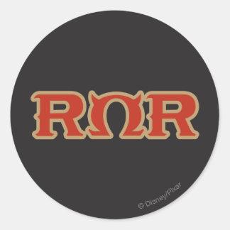 Logotipo de ROR Pegatina Redonda