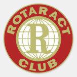 Logotipo de Rotaract Etiquetas Redondas