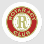 Logotipo de Rotaract Pegatina Redonda