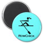 Logotipo de RowChick Imán Redondo 5 Cm