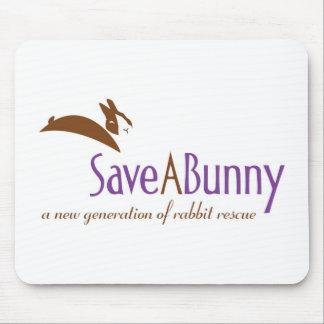 Logotipo de SaveABunny Alfombrilla De Ratones