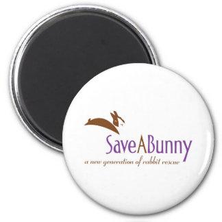 Logotipo de SaveABunny Imán Redondo 5 Cm