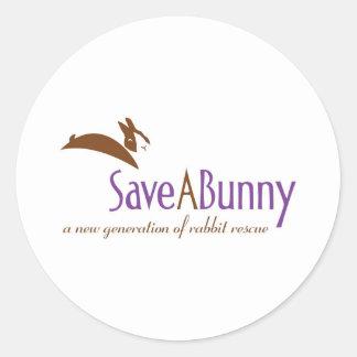 Logotipo de SaveABunny Pegatina Redonda