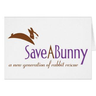 Logotipo de SaveABunny Tarjeta De Felicitación