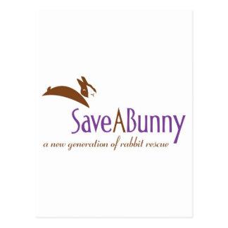 Logotipo de SaveABunny Tarjeta Postal
