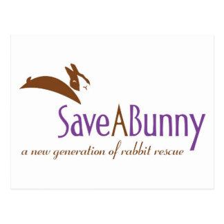 Logotipo de SaveABunny Tarjetas Postales